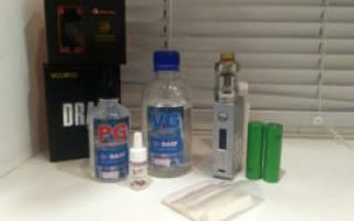 Заправка для электронной сигареты с никотином