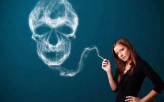 Влияние курения на организм женщины