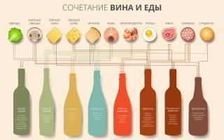 Белое вино с чем сочетается