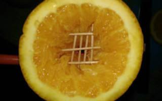Как делать кальян на апельсине